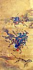 Very Fine Joseon Dynasty Korean Tiger Hunting Painting