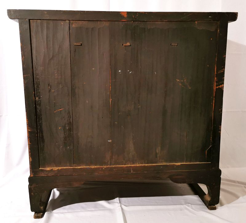 Large Zelkova Wood Korean Headside Chest from Gyeonggi Province