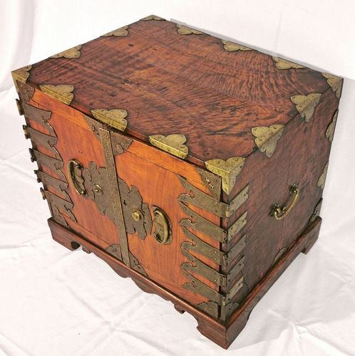 Beautiful Korean Antique Wood Safe with Fine Grain