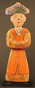 Rare Korean Funerary Figure, Original Pigment Intact