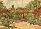 Oil Painting by Park Deuk Soon, 1949