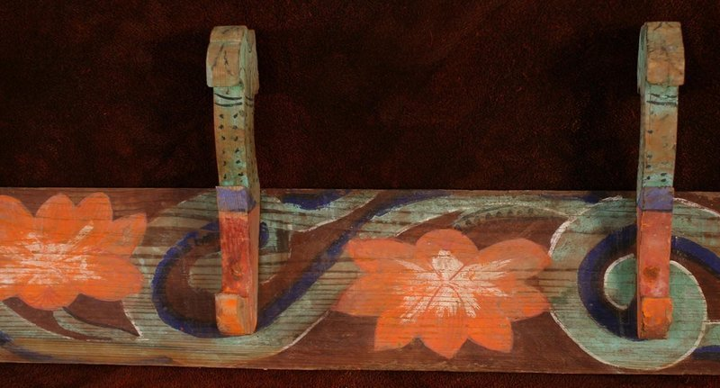 Rare Korean Funeral Bier Panels, Over 7 Feet Long