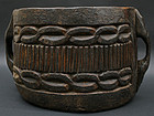 18th Century Tibetan Wood Vessel with Handles