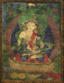 17th Century White Tara Tibetan Thangka