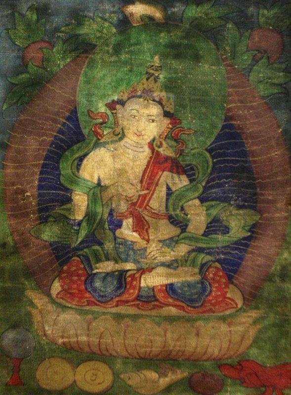 17th Century White Tara Tibetan Thangka