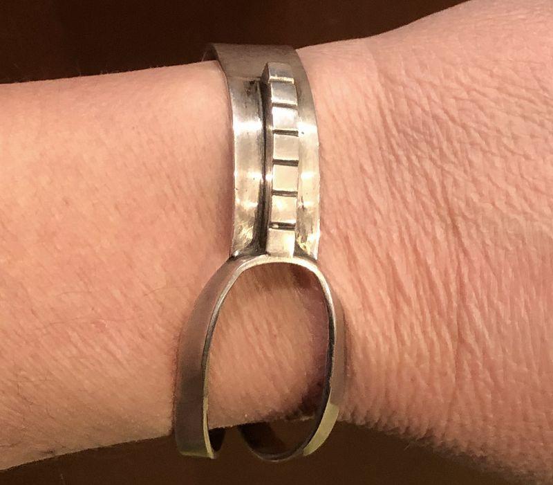 Henry Steig Rigid Modernist Cuff Bracelet