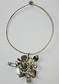 Richard Bitterman Industrialist Scrap Metal Necklace
