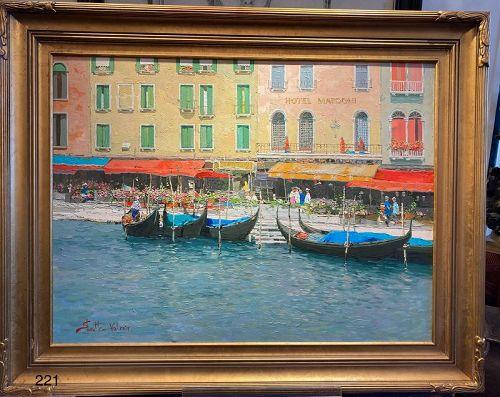 Venetian Oil on Canvas by Shmatko Russian born artist