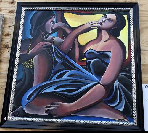 Anne Lane �Double Portrait� 36�x36� oil on canvas
