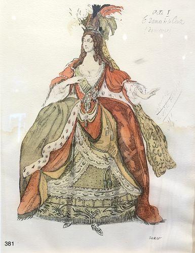 Original Ballet Russe Costume Drawings by Leon Bakst Russian Artist