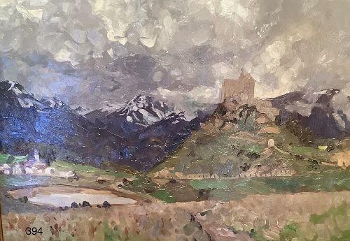 Alpine Landscape by Swiss artist Alten Kirch 1875-1945