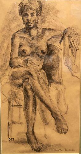 Portrait of Lena Horne by artist Bart Dahl circa 1965