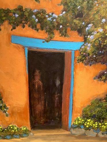 Figures In Doorway Abstract by McCuan