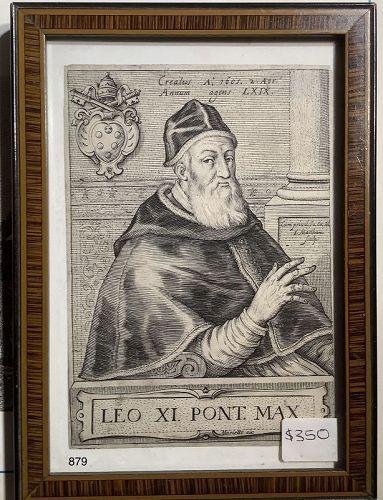 Pope Leo XI Engraving