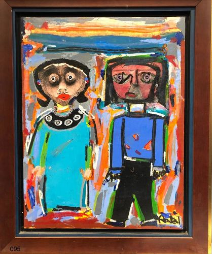 Abstract Figures by Rascal Oil on Canvas