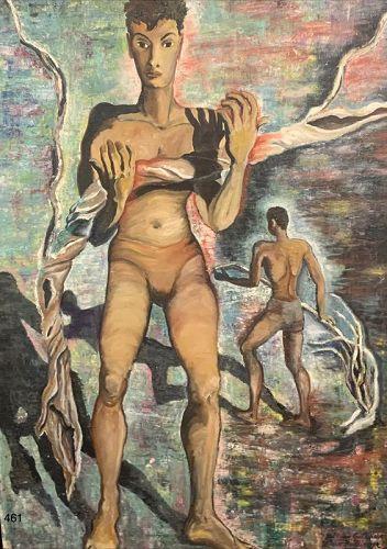 Sugarcane 1940s Semi-Nude Figures