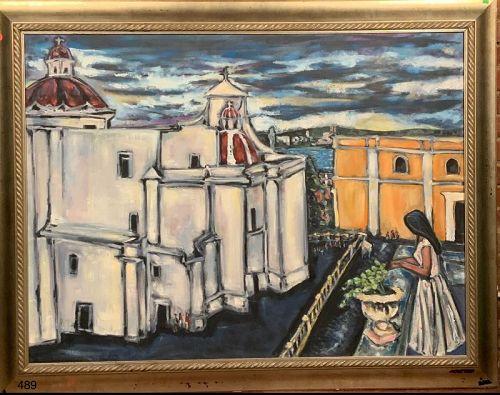 Woman on the balcony San Juan