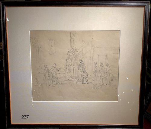 George Washington Meeting the Widow Curtis by E.Percy Moran