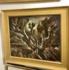 An Important Work by surrealist Joshua Hilda Katz 1938 oil on Canvas