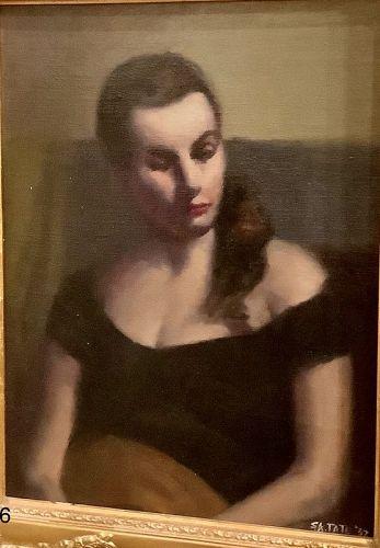 "American Surrealist Artist S.A.( Sally) Tate ""Mme X"" portrait"