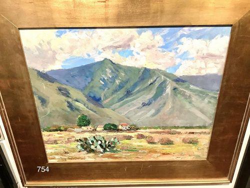 Western Painter Augustus DUNBIER  �New Mexico Landscape� oil