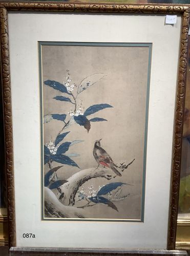 Chinese Lithograph Avian work on paper