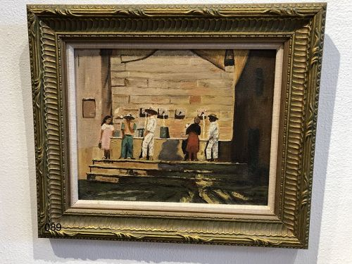 M. Hanay signed South American Artist �Town Social� 1930s