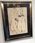 A.E. Sterner American Master Painter Women Study 1927