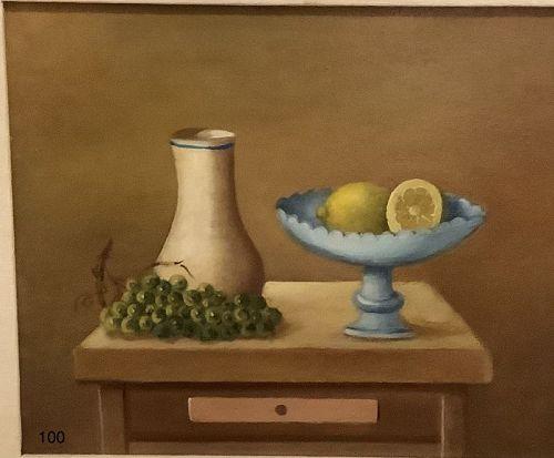 Still Life Italian Artist C. D. Mirani  oil on canvas
