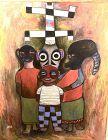 Abstract Figure Family by Ephrem Kouakou