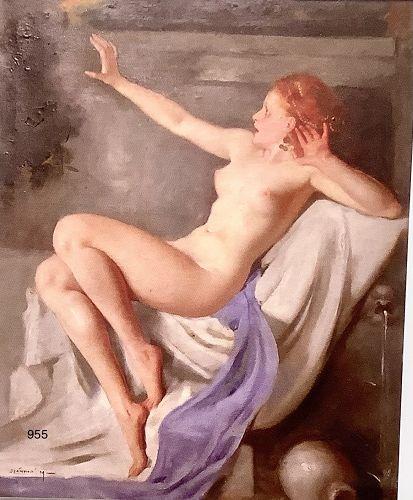 Hungarian Artist Maria Szantho �Leda and the Swan� 1928
