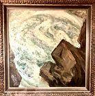 """American Master Norman MacLeish """" Whirlpool Rocks"""" deer Isle Maine"""