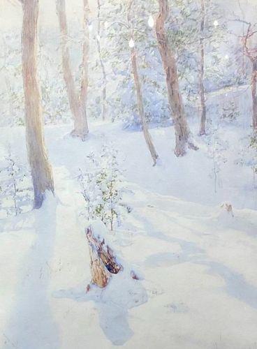 """Winter Fresh Landscape"" 1920 by W.L. Palmer"