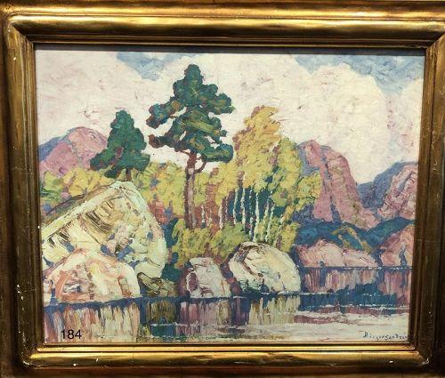 Artist Berger Sanders Landscape Paintng Glicé