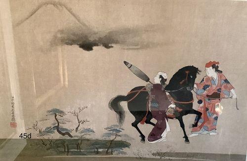 Japanese Woodblock Print Nineteenth Century Emperors  Stallion