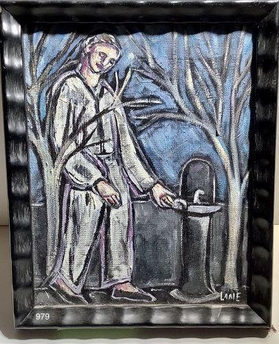Master Washington DC Artist Anne Lane �At The Fountain� Rare Oil