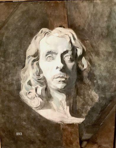 Jean Louis FORAIN,French Nabis School, Portrait of Voltaire Oil