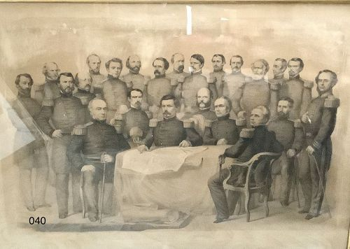 McClellan And The Commanders of The Union Army Framed Engraving
