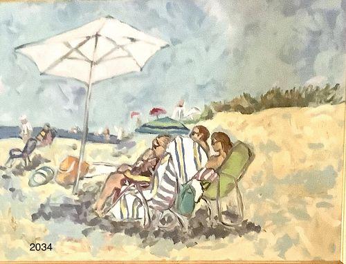 Washington DC Artist ANNE LANE �Southampton Beach� Large Oil
