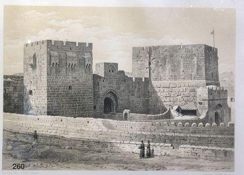E. PIEROTH artist signed �Fortress� nineteenth Century 9x12�