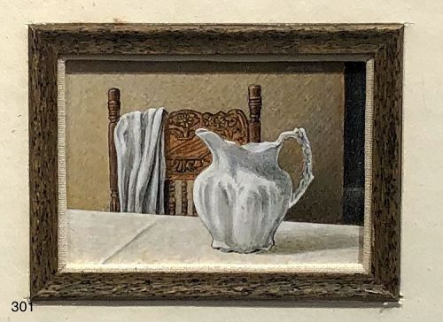 Still Life with Pitcher Miniature Masterpiece by artist LEO McREE