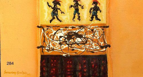 Artist Hector Sinclair Abstract Oil �Danza�