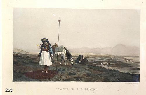 Jean Leon GEROME,France �Prayer in the Desert GOUPIL & SON