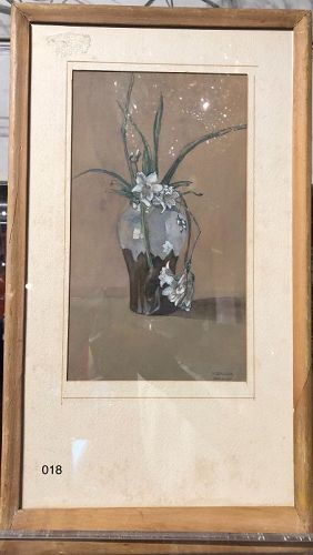 Day Lilies in Japanese Vase by H. Bauder
