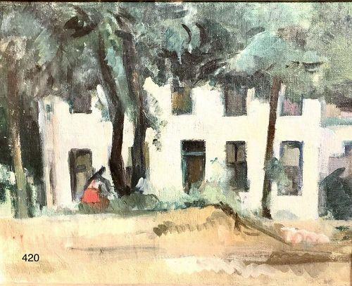 Artist Manfred Schwartz �The White Apartment� Oil 14 x 18�