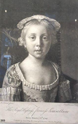 HRH Princess Louisa Anne by Richard Houston 1750s