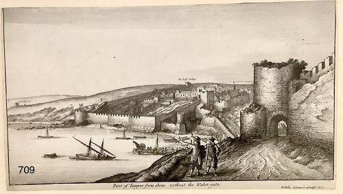 Wenceslaus HOLLAR 1670 Engraving �Tangier From Above� 5�x8�