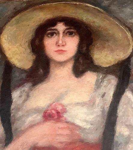 Georges D�Espagnat 1870-1950 French Artist Oil  33x33�