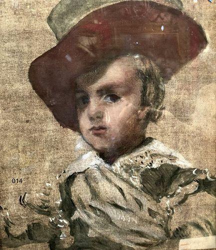 Unsigned Portrait after Velasquez Oil on canvas 18 x 14�