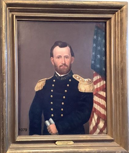 Edward Dalton MARCHANT 1806-1887 Portrait of General U.S. US Grant